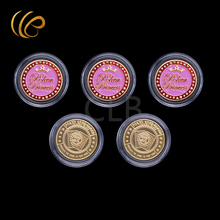Wholesale Colorful Poker Coins The Winners Design Pink Poker Token Coins with Plastic Case for Games and Souvenirs(China)