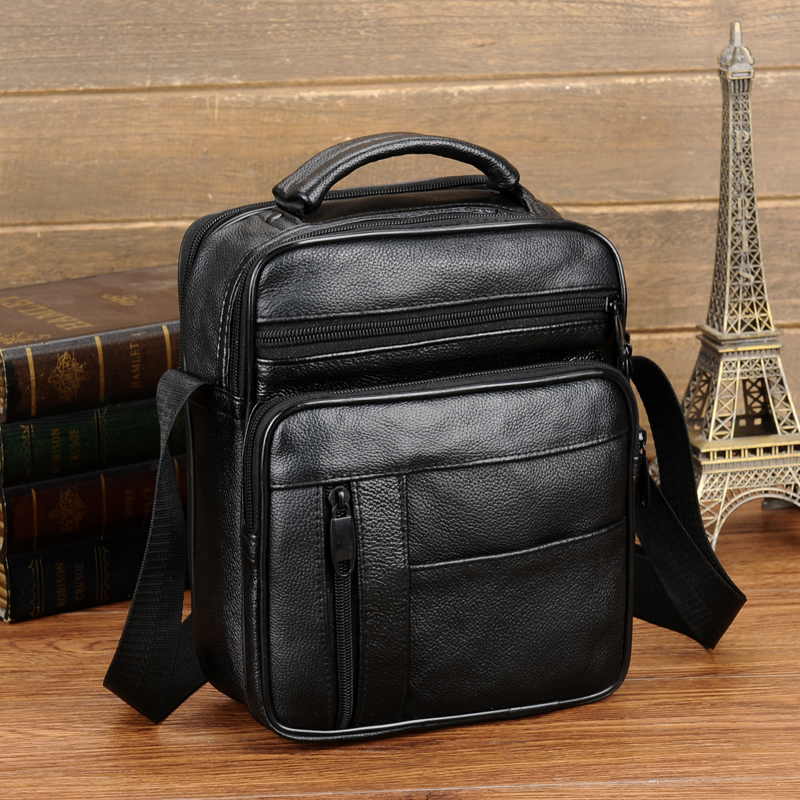 dd147fe8f4d0 Genuine Leather Shoulder Bags ipad Male Bag Fashion Men Messenger ...