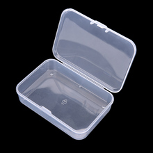 1x Mini Durable Plastic Clear Transparent Jewelry Necklace Storage Container Case Box Holder Craft Organizer