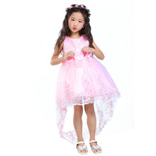 Girls Chiffon Dress Kids Girl Dresses Beautiful Wedding Party Dress Girls Formal Party Pageant Princess Dress For 4-10Y Girls