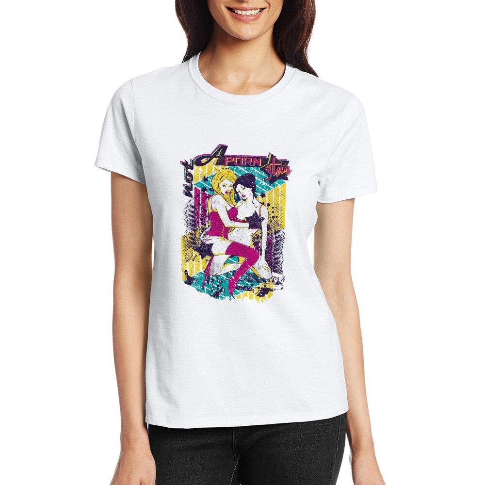 Not A Porn Star T-shirt Sexy Hip Hop Cool Creative T Shirt Pop Fashion  Style Women Men Top