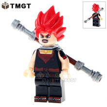 TMGT Building Blocks Single Sale WM235 Dragon Ball Z Goku With Red Hair Black Cloth Son Vegeta Master Bricks Kids DIY Toys