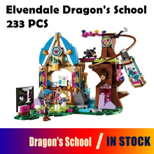 Model Building Blocks 10501 Elvendale Dragon's School brick 41173 Friends Elves Buildable Educational toys Compatible with Lego(China)