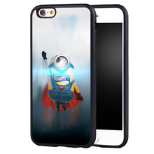 Cute Yellow Minion superman case cover for Samsung Galaxy s6 S7 edge S8 plus s4 s5 note 2 3 4 5