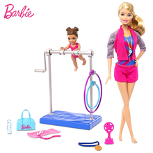Barbie doll Baby gymnastics coach Bobby suit doll gift girl Princess Dress toy joint movable cool version kids gifts(China)