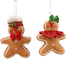 1pcs/lot Gingerbread Man Christmas Tree Hanging Ornaments Xmas Festival Children's Gifts Pendant Home Decorators SD358