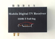 Car ISDB-T Double Tuner Full Seg Car Digital TV Receiver SET TOP BOX two Antenna 1080P for Car DVD GPS Android player(Hong Kong)