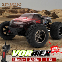 Buy RC electric Car 2.4GHz 4WD large tire high speed Bigfoot racing cars toy Off-road buggy vehicle model Wltoys drift children gift for $81.60 in AliExpress store