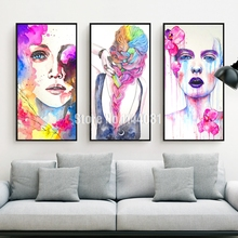 5D Diamond Embroidery Watercolor Woman Full Drill Cross Stitch Diamond Sets Decorative Diy Diamond Painting Illustration Girl