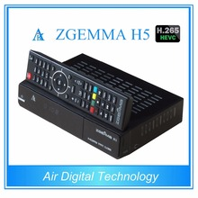 10 pcs/lot ZGEMMA H5 satellite tv decoder combo DVB S2 + DVB T2/C Enigma2 Linux tv box support HEVC/H.265