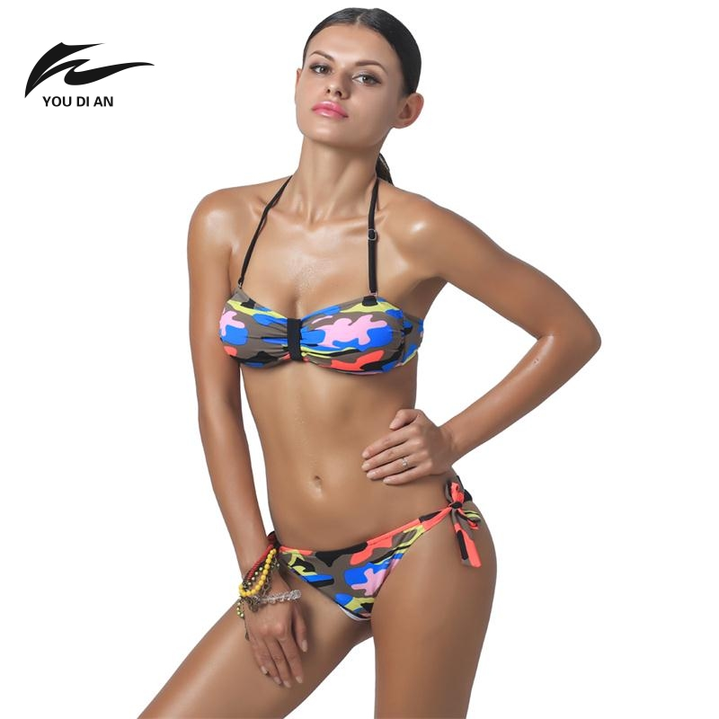 YOUDIAN Brand Bikini Sets The Latest Women Swimsuit Personality Camouflage Bathing Sexy Hot Female Beach Essential Swimwear<br><br>Aliexpress