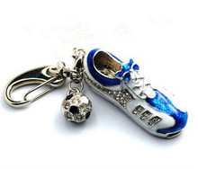 !usb flash drive Metal keying keychain sport shoe gift for girl usb flash drive USB 2.0 memory stick pen drive jewerly usb stick(China)