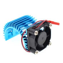 Aluminium Alloy Heatsink/Radiator with Cooling Fan Set for 1/10 540/550 3650 Motor HSP RC Car Parts