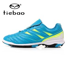 TIEBAO Professional TF Turf Sole Football Shoes Sneakers Outdoor Soccer Shoes Children Kids Teenagers Athletic Training Shoes