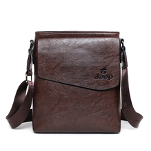 In 2017 New men shoulder bags portable IPAD CrossBody bags men's business casual travel leather men Messenger bag L79