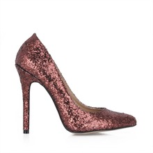 bling bling Sexy Stiletto High-Heeled Shoes Woman Party Wedding Shoes Sequined Women Shoes 2018 Pointed Toe Womens High Heels(China)