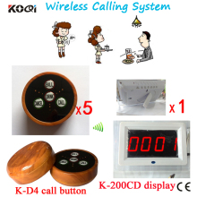 Caller Push Button Calling System 1pc English Prompt Screen And 5pcs Press Buzzers For Sample Order(China)