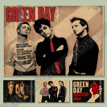 2016 new style green day poster Free shipping poster the best gift Punk punk rock poster Bar Cafe decorative paintings(China)