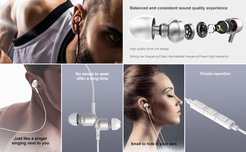 Baseus In-ear HIFI Earphone stereo Music Sport Earbuds 3.5mm jack Earpieces Gaming Headset for Huawei iphone6 XiaoMi phone