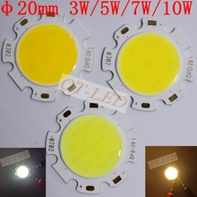 10pcs 3W 5W 7W 10W COB LED Lamp Light Bulb Neutral White Cool White Warm White Led Light for DIY/Bulb Light  20MM