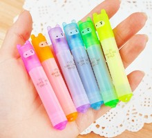 1pack/lot New cute Ninja Rabbit fluorescent pen Color Highlighter marker 6 pcs/pack Wholesale(China)