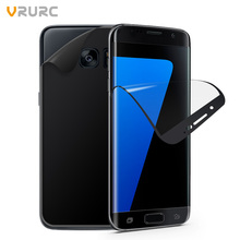 Vrurc Screen Protector For Samsung Galaxy S7 Edge 2Pcs Front and Back Full Cover PET Phone Film Guard(2Pcs/Pack)(China)