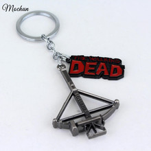 MQCHUN The Walking Dead Keychain Metal Crossbow Pendant Keyring Key Chain Ring Hot Movie Jewelry For Fans Factory Direct Sale