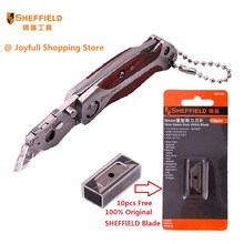 SHEFFIELD Brand New Mini Utility Knife  Stainless steel Folding Knife Box Paper Cutter Portable Pocket Quick change Blade Knife