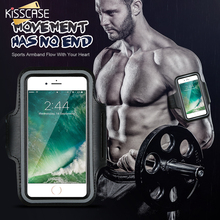 KISSCASE i6 6S Waterproof Running Arm Band Leather Case For iPhone 6 6S Phone Holder Pouch Belt GYM Cover For iPhone 6 6S Plus