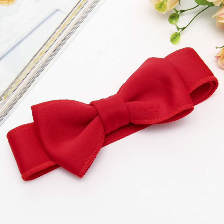 Fashion kids infant child girls head wraps tiara elastic ribbon headband satin big bows headwrap hair bands Accessories For Party (5)