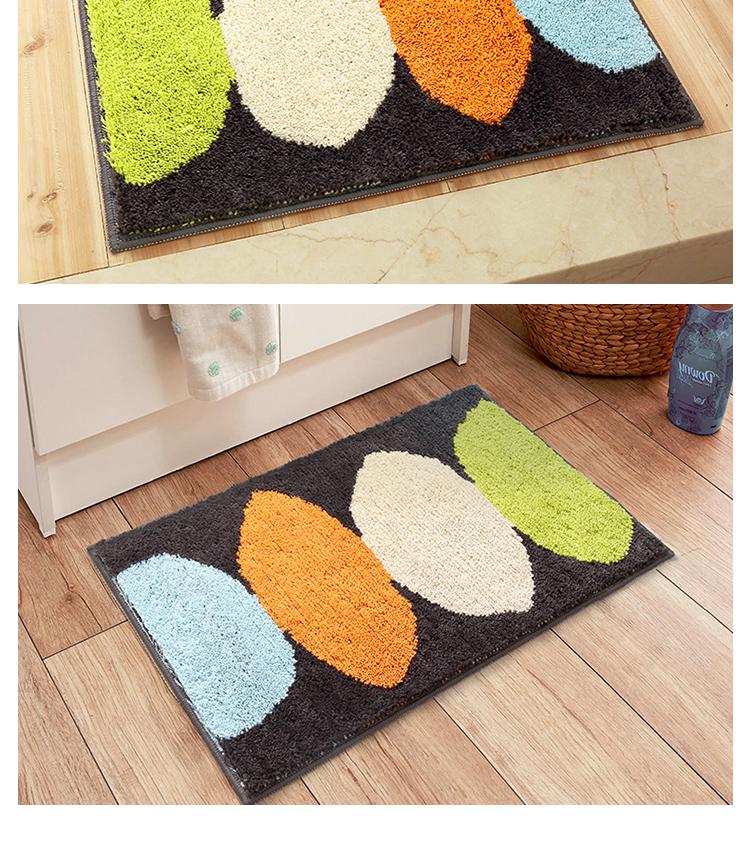 Cartoon Flocking Mat 50x80cm Lemon Printed Home Hallway Living Room Rug  Carpet Thick Non Slip Absorbent Bathroom Floor Mats   Us334