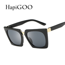 HapiGOO Fashion Cool Square Sunglasses Women Summer Style Sun Glasses Brand Designer Vintage Gafas Oculos De Sol UV400(China)