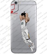 Case for iphone 7 plus 5s 6 7 6s se 6s plus Basketball superstar Aaron Gordon Transparent Silicon tpu case custom made