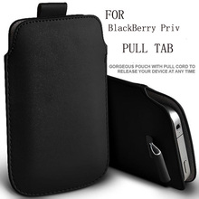 8 COLORS HIGH QUALITY PU Leather Pull Tab Sleeve Pouch Bag Case Cover For Blackberry Priv Cell  Phone