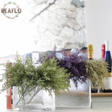 1Bunch/5PCs DIY Handmade Plastic Grass Wheat Plant Artificial Bouquet For Home Hotel Party Decoration 2 Colours