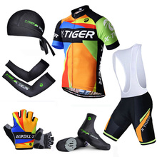 Pro X-Tiger Summer Big Cycling Set ! Summer Mountain Bike Sportswear Bicycle Jerseys Clothes Hombre Maillot Ropa Ciclismo(China)