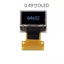 Hot 0.49 inch OLED display 64*32 Dot matrix SD1306 drive I2C Hardware interface screen(China)