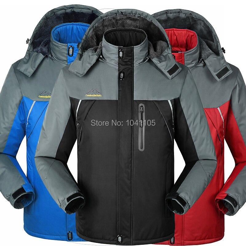 Winter men jackets thermal jaqueta thick jacket coat for men Velvet Windbreaker male fashion jacket outwear Waterproof Windproof