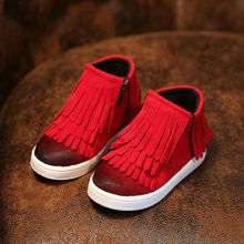 Kids Trainers Baby Shoes Girls Boys Boots 2017 Rubber Boot Baby Fashion Sport Shoes Superfly Original Tassel Shoes Comfortable(China)