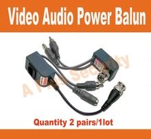 BNC Video Balun Audio Power  twisted pair Power Transceiver 2 Pairs CCTV Audio Video Balun UTP