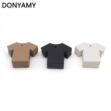 DONYAMY 50Pcs T-shirt Shape Blank Vintage Stickers Kraft Label Sticker DIY Hand Made For Gift Cake Baking Sealing Hang tag(China)