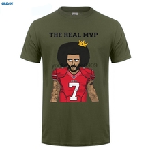 GILDAN The Real MVP Colin Kaepernick funny t shirts Mens 7 Fashion T-shirts for 49ers fans(China)