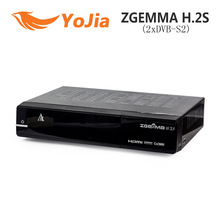 ZGEMMA H.2S Satellite Receiver Twin Tuner DVB-S2 + DVB-S2 Dual Core Enigma 2 linux OS Set Top Box