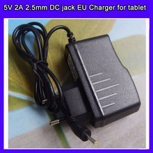 10pcs/lot Universal 2.5mm Europe EU Plug Power Adapter AC Charger 5V 2A for Tablet PC ePad(China)