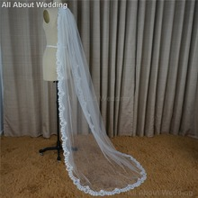 Wedding Veil 2 Meter Long Soft Tulle Lace One Layer Hair Accessory Cover 2017 New Style Real Photo