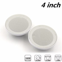 "4"" inch 160W 2 Way Waterproof Marine Boat Speakers Use for ATV Motorcycle / Yacht / Sauna Room / SPA / Boat"