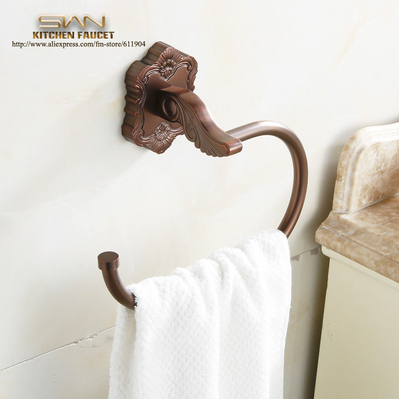 Free Shipping Towel Ring Brass + Zinc Alloy Copper Antique Red Bathroom Accessories Products ,Towel Holder,Towel bar 34F2101<br><br>Aliexpress