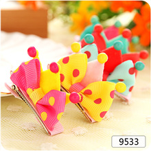 pet  hairpin 5cm  side clamping chuck lovely stereo crown molding top clamp duckbill Clip Grip dogs bows gift accessories