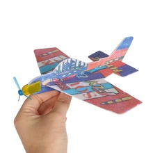 DIY Assembly Flapping Wing Flight Model Imitate Birds Aircraft Toys For Children Flying Kite Paper Airplane For boy's gift(China)