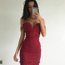 Buy Red Dress Bodycon Robe Sexy Club Dresses 2017 Girls Shoulder Female Summer Dress Open Back Black Vetement Femme for $11.20 in AliExpress store